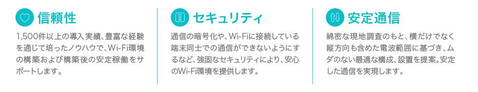 信頼性・セキュリティ・安定通信